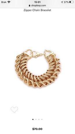 Oryginalna bransoletka Bop Bijoux pozłacana 14k złotem nienoszona 70$!