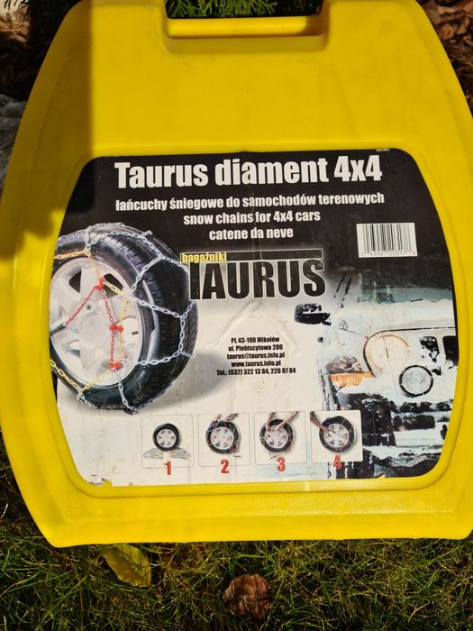 Łańcuchy śniegowe Taurus diament 4×4 super cena!! Będzin - image 1