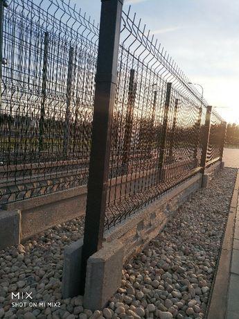 Ogrodzenia panelowe z podmurówką- panel ogrodzeniowy fi 4 Węgrów