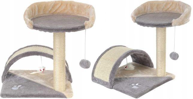 Drapak, legowisko dla kota z platformą obserwacyjną 2 poziomy