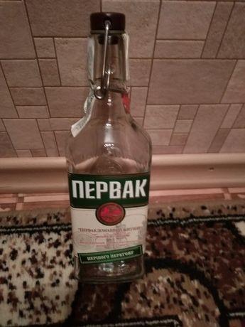 """Водочная бутылка """"Первак"""" 0.5 л с бугельной пробкой. (герметичная.)"""