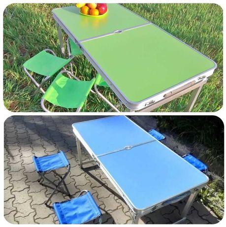Усиленный стол для пикника, природы, рыбалки + зонт