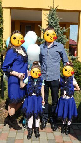 Family look . Фемелі лук. Плаття мама+дочка +дочка.