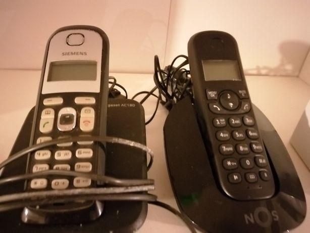 Três telefones sem fios