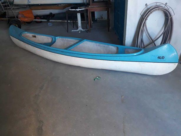 canoa em fibra 2 lugares