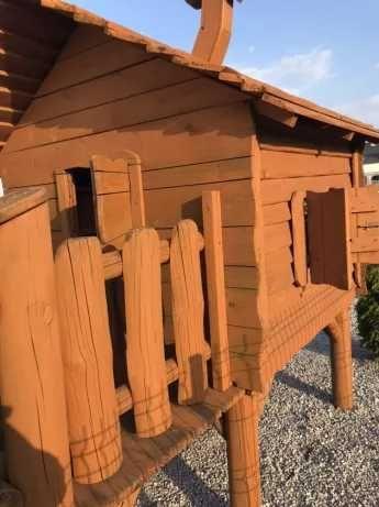 Bajeczny Domek drewniany ogrodowy plac zabaw dla dzieci