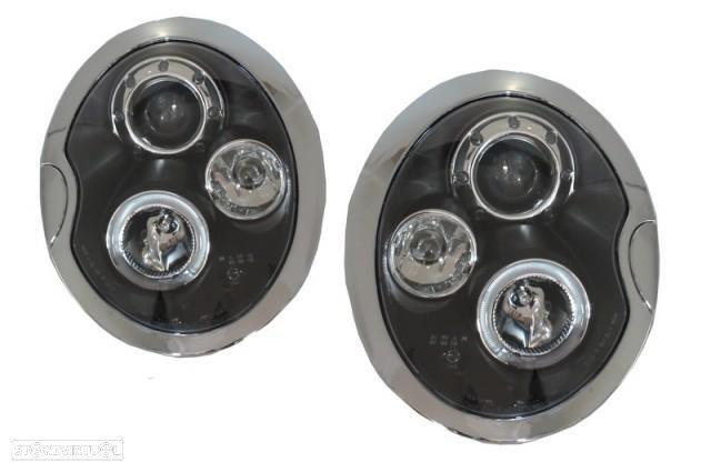 Conjunto Faróis Look Xenon MINI R50 R52 R53