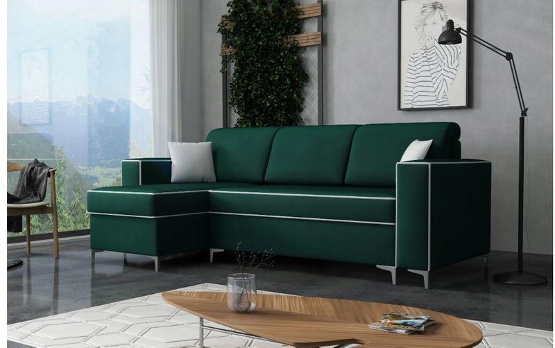 MILAN / NOWA KANAPA SOFA NAROŻNIK łóżko z funkcją spania / 140x230 cm