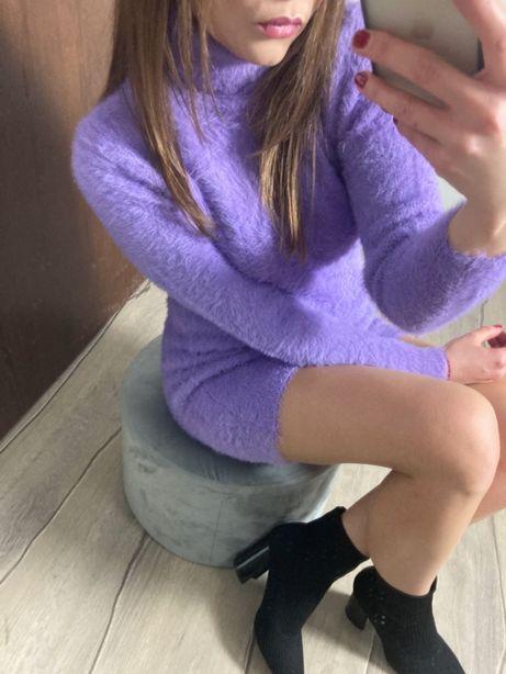 Sukienka Tunika Misiowa w kolorze fioletowym S