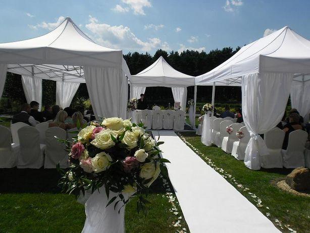 Namioty bankietowe, namiot na wesele, komunie, zastawa stołowa krzesła