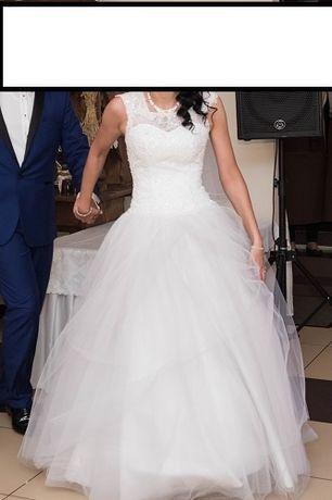 Suknia ślubna princesska + welon