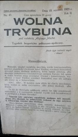 Zabytek Wolna trybuna 1925rok