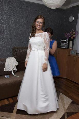 Suknia ślubna, bolerko, halka,