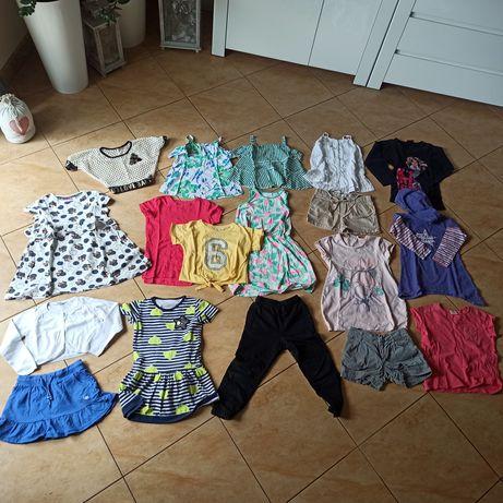 Paka ubrań dla dziewczynki rozmiar 110-122
