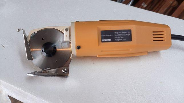 maquina corte circular tecido, malhas, couro cartão tesoura electrica