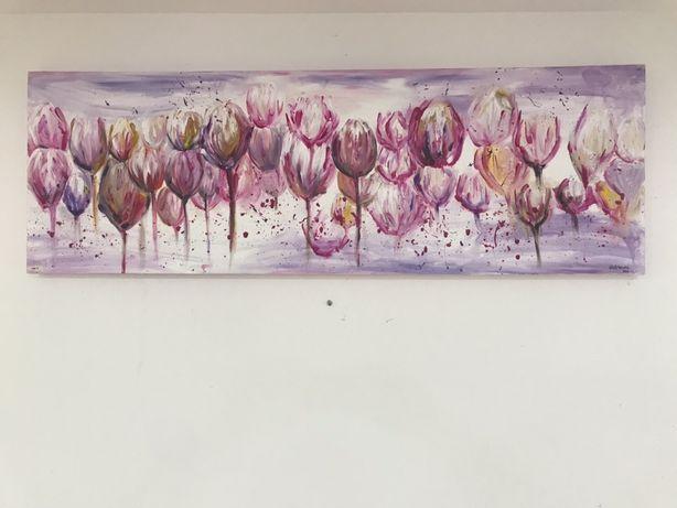 Pintura em acrílico abstrato