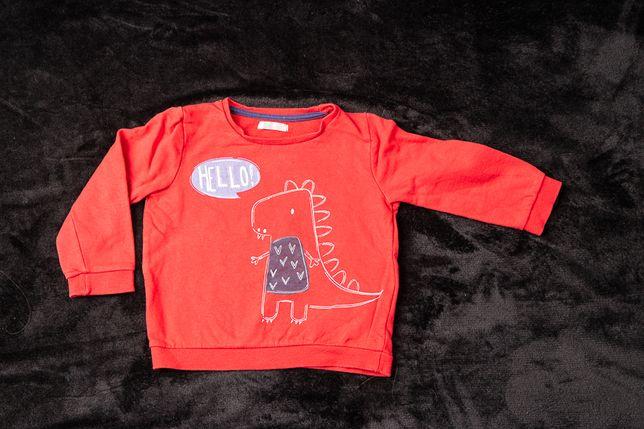 Bluza chłopięca dinozaur czerwona 92 cm