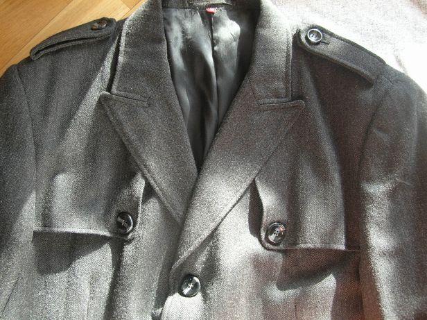 Męski elegancki wełniany płaszcz/jesionka XL/XXL kurtka 54 wełna 100%