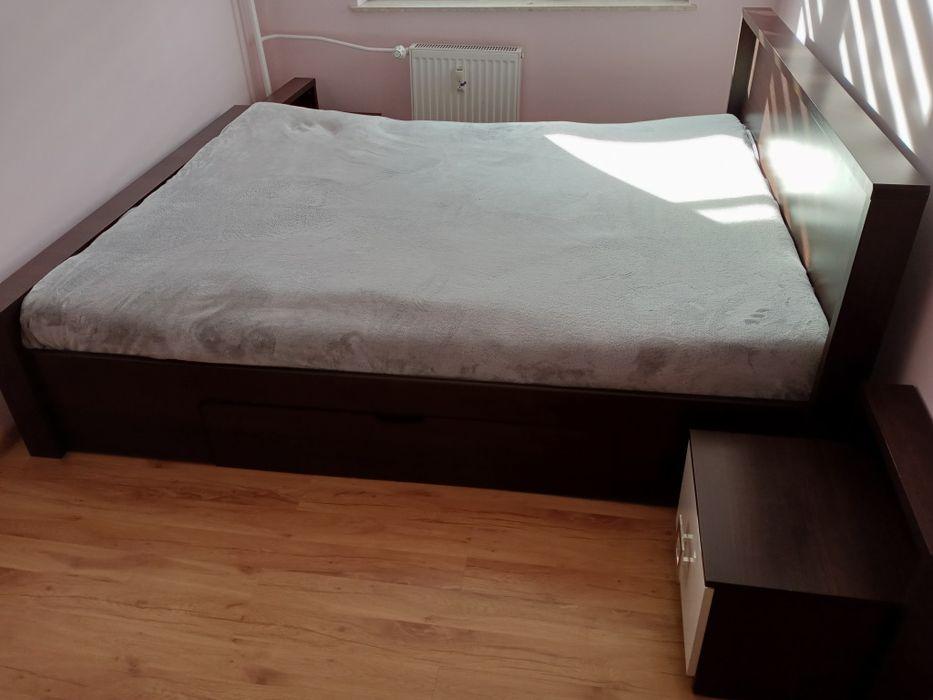 Łóżko do sypialni + dwie szafki Zawiercie - image 1