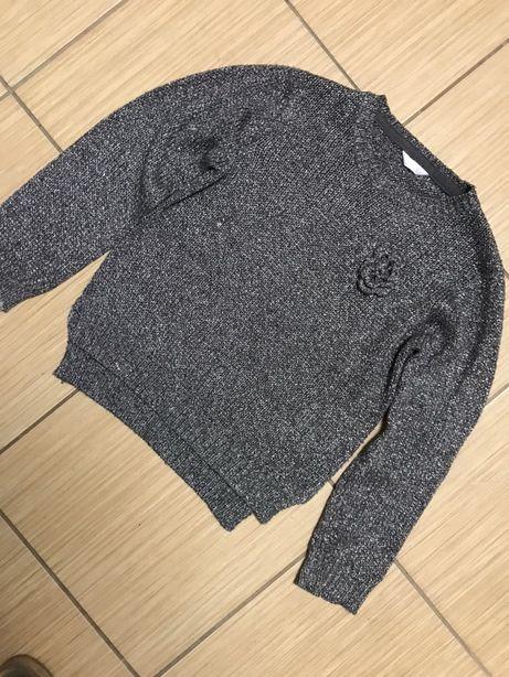 Zestaw trzech sweterków 128