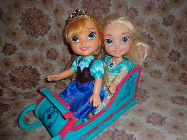 Сани санки кукла Эльза Анна Холодное сердце Frozen Disney Дисней