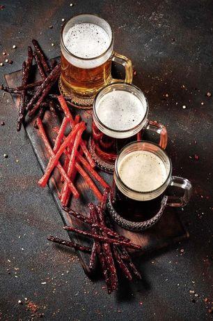 Палички до пива Курячі Свинні Яловичі Крафтові мясні вироби