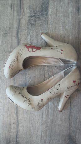 Buty czółenka szpilki ślubne ślub Dogo Shoes Just married roz. 38