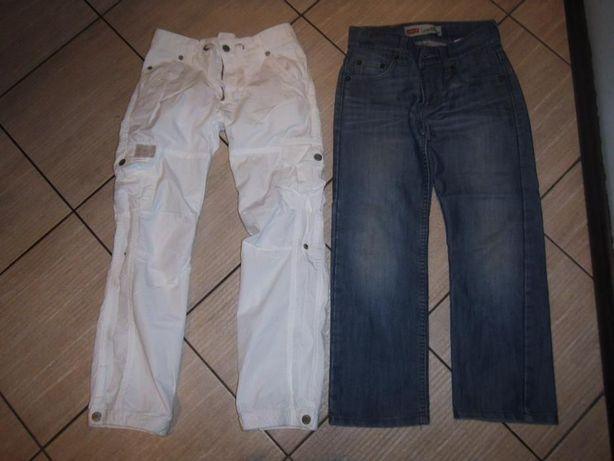Spodnie f. Levi's, H&M, NEXT, Cool Club r. 8-9lat 134cm