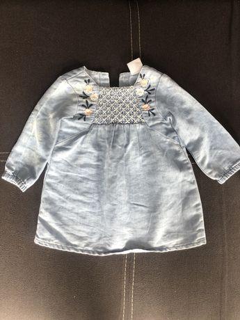 джинсовое платье с вышивкой на годик