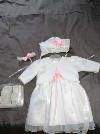 Sukienka do chrztu + buciki