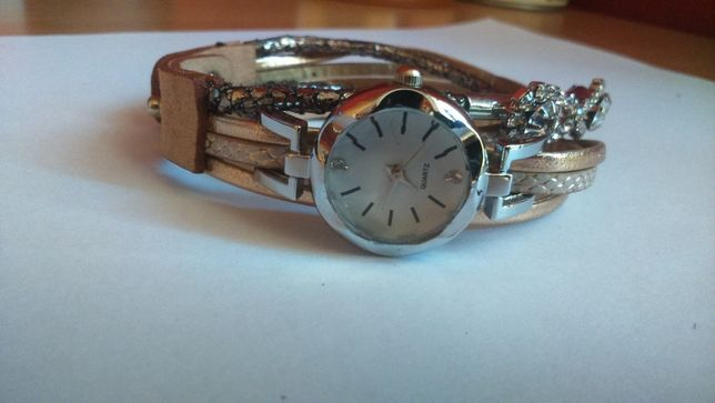 zegarek damski ładny skóra rzemyk napa