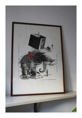Serigrafia de António Charrua 1988 (Centro Português de Serigrafia)