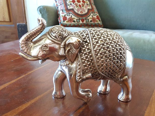 Escultura Elefante em Prata 92.5