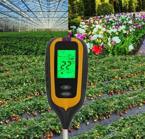 PH-метр 4 в 1 садовый электронный для грунта
