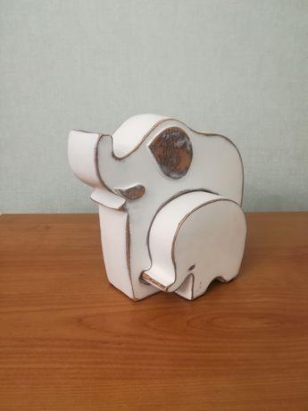 Figurka słoń słonie nowoczesna