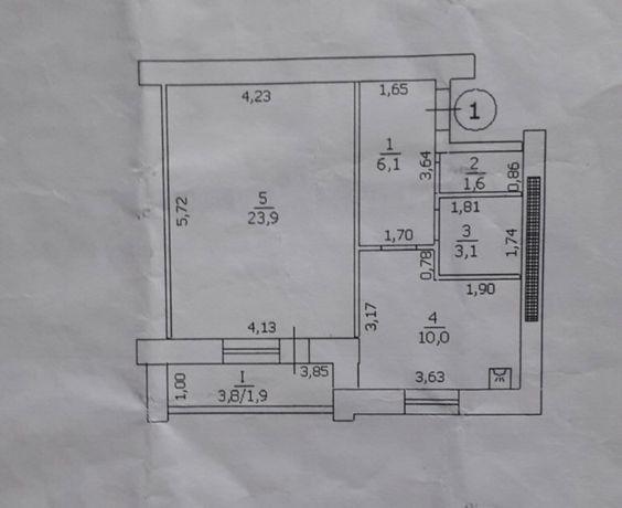 Предлагаем Вам 1 комнатную квартиру в новом доме
