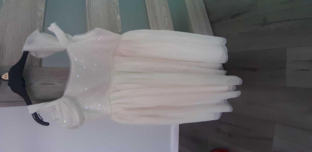 Biała sukienka rozmiar 134 hm Wałbrzych - image 1