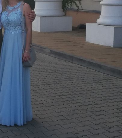 Sukienka błękitna maxi Bugatti  38 Pretty women