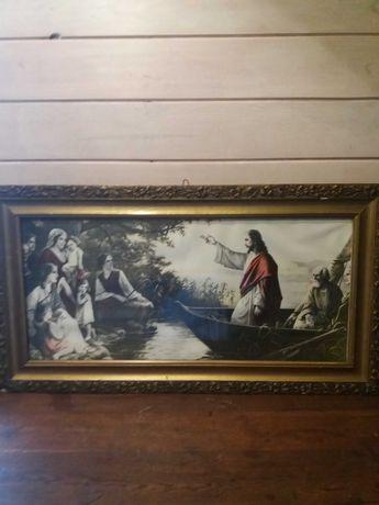 Obraz religijny-Jezus na łodzi