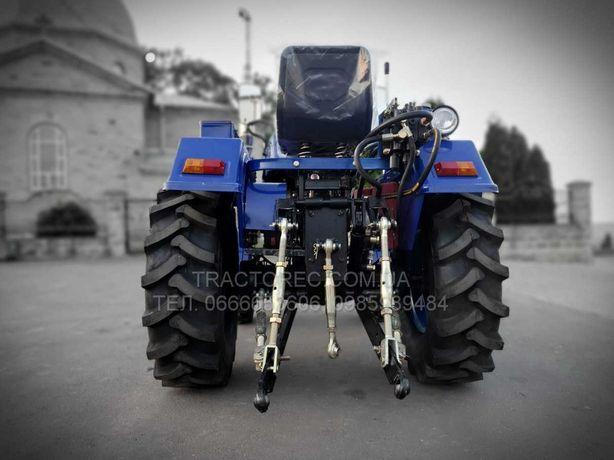 Мототрактор міні-трактор БУЛАТ Т-25 PLUS з триточкою, фреза140+2х плуг