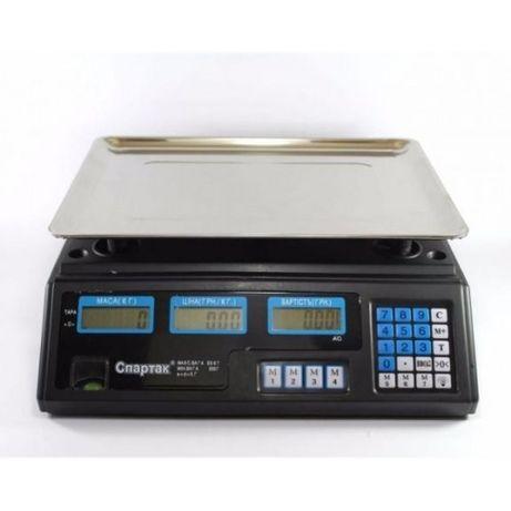 Торговые электронн.весы 6V/4,5А (до 50 кг) с калькулят. цены / стойкой