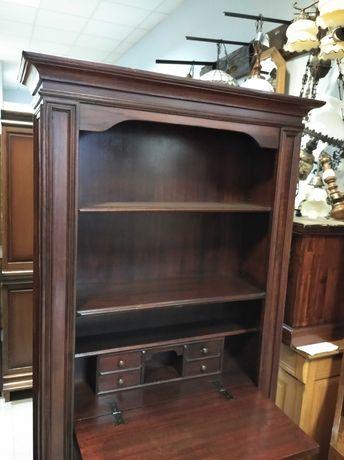 Biblioteczka ciemna drewniana dębowa regał sekretarzyk biurko DOWÓZ