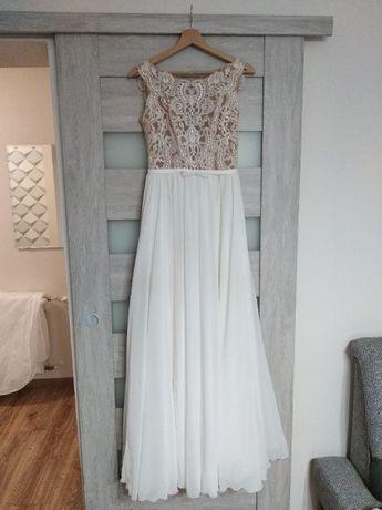 Suknia slubna, rozmiar 36 + długi welon