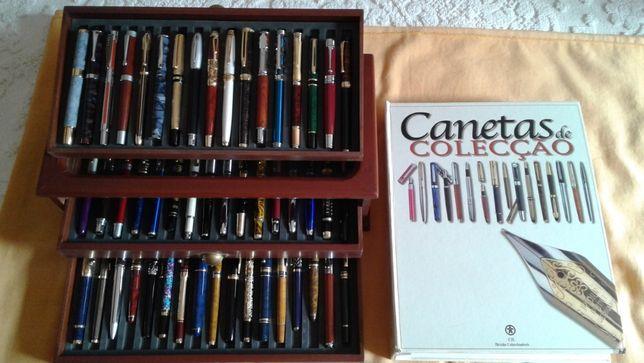 50 canetas tinta permanente com expositor e 100 fichas históricas
