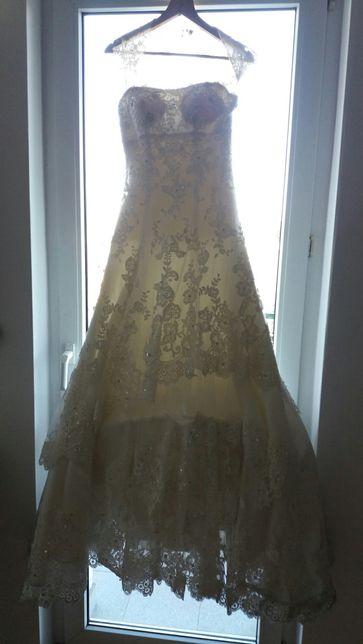 Suknia ślubna - rozm 36/38 z welonem