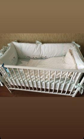 Детский манеж, кокосовый матрас+набор подушек+простынь+одеяло