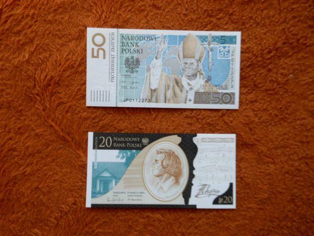 Banknoty - Papież c Chopinem.