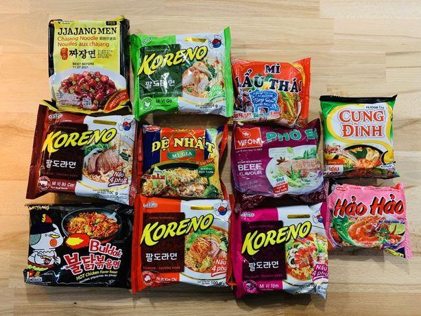 Лапша быстрого приготовления и сладости из Вьетнама, Кореи, Китая