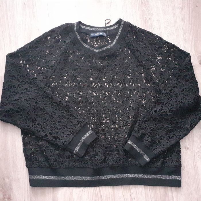 Koronkowa bluza Zara Kępno - image 1