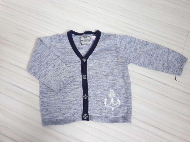 Rozpinany sweterek ZARA rozm 74-80